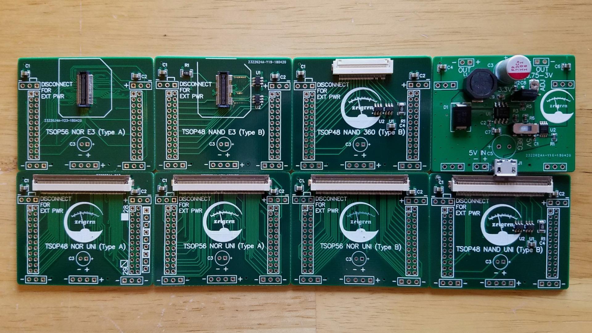 FlashcatUSB Clip Adapters